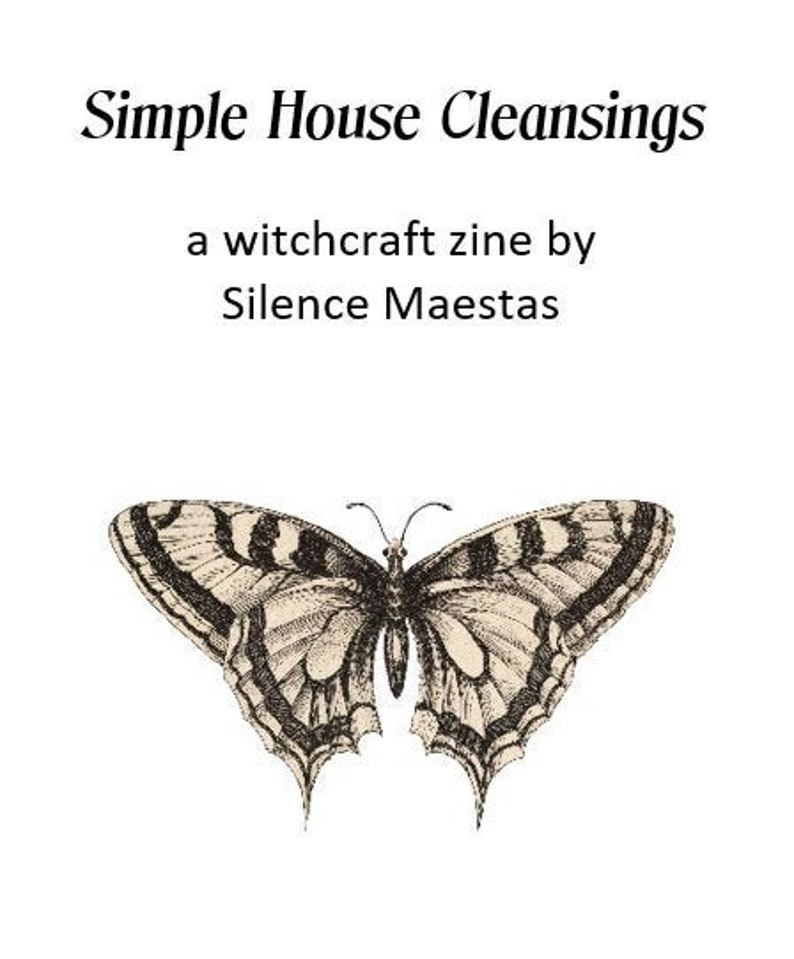 Simple House Cleansings  zines witchcraft pagan publishing image 0