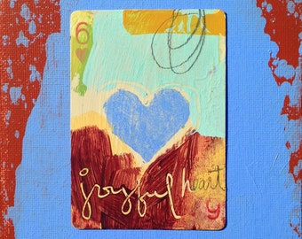 Heart, Hand Painted Playing Card