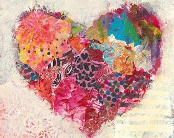 Joyful Heart Original Mixed Media Painting
