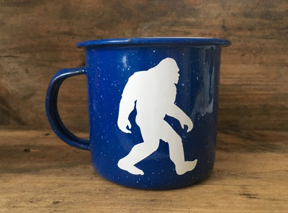Bigfoot | Yeti | Mug | Enamel Mug | Bigfoot Gift | Personalized Mug | Camping Mug