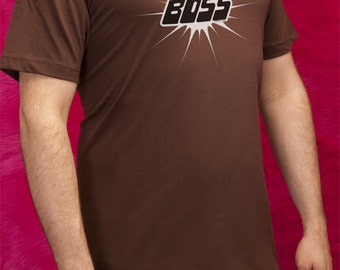 Supaflarez BOSS cotton men's short-sleeved T-shirt—Brown