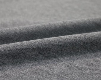 d9a06ea3992 FREE SHIPPING Heather Grey Cotton Lycra Spandex Knit Jersey Fabric 12 oz  Heavy Sold by the yard