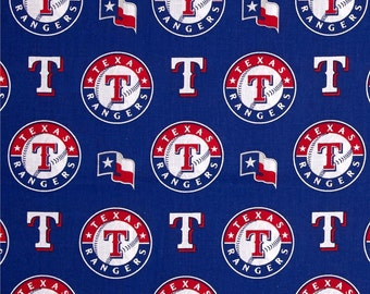 MLB Texas Rangers 100%Cotton Fabric by the yard