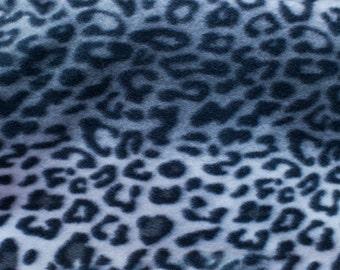 Leopard Animal Print 03 Fleece Fabric by the yard