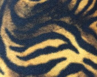 Tiger Animal Print Fleece Fabric by David Textiles by the yard