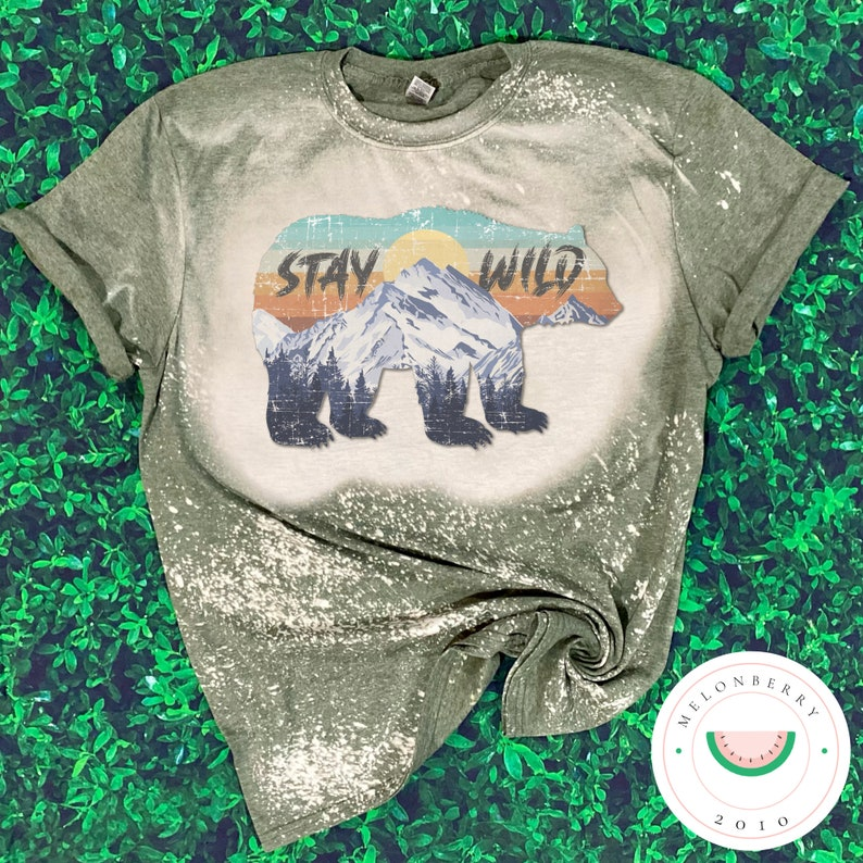 Stay Wild Adult Bleached Tee