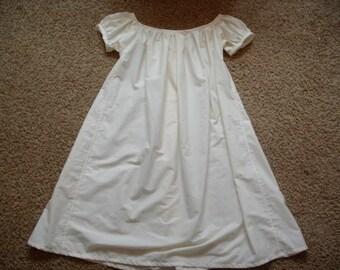 Civil War Era Chemise---- Cotton Chemise, Cotton Slip, Renaissance Chemise, Tunic, Historical, Authentic