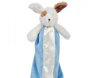 Personalized Skipit Blue Dog Bye Bye Buddy Lovie by Bunnies By The Bay / Monogrammed Baby Lovie / Infant Lovie / Monogrammed Baby Gift