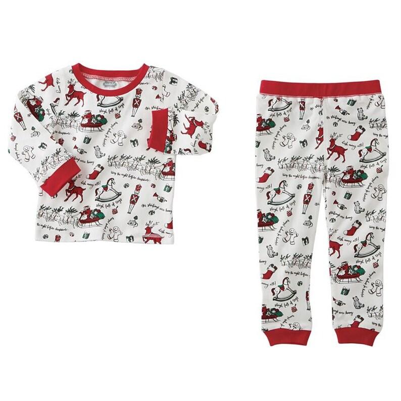 Sweet Dreams Santa Embroidered Green Gingham Checked Christmas Boys Pajamas