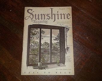SUNSHINE Magazine August 1942 Edited By H. F. Henrichs Vintage