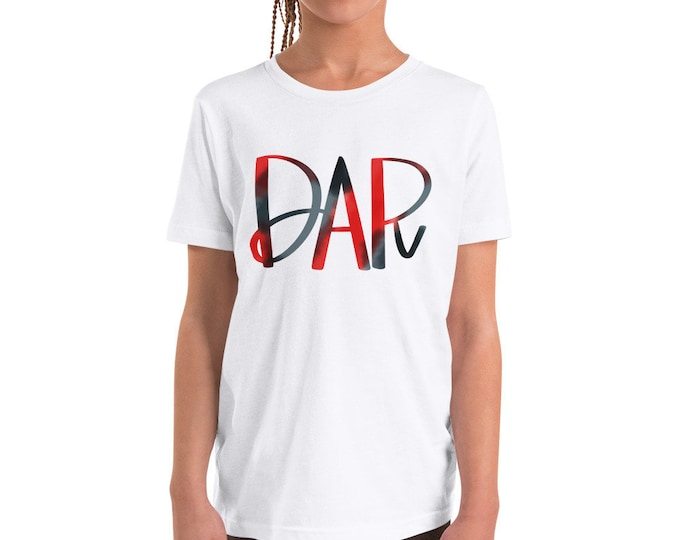 Youth DAR Watercolor on Grey or White Tee