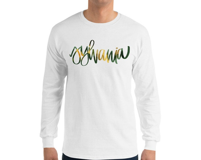 Adult Sylvania Watercolor White or Grey Long-sleeve Tee