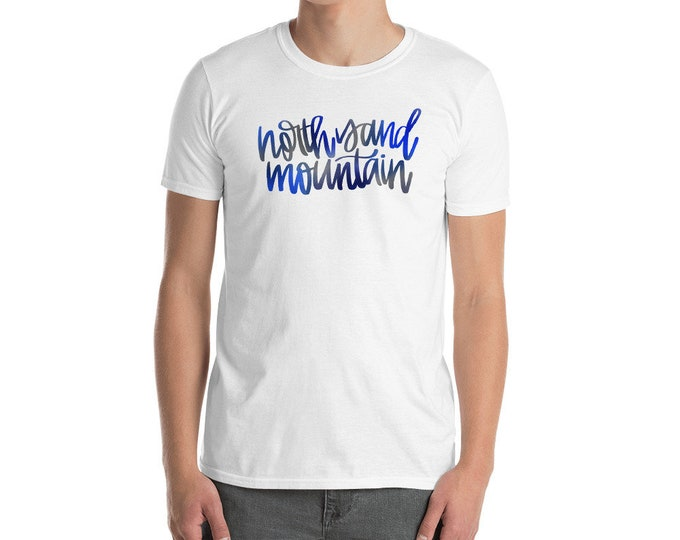 Adult North Sand Mountain Watercolor White Tee