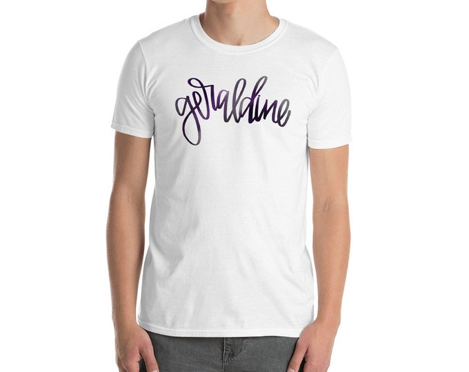 Adult Geraldine Watercolor White Tee