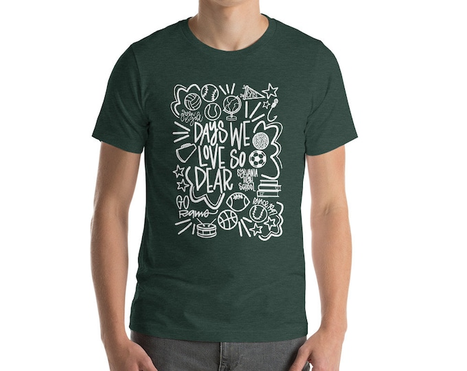 Adult Sylvania White Days We Love on Green Tee