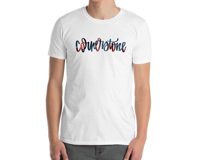 Adult Cornerstone Watercolor White Tee