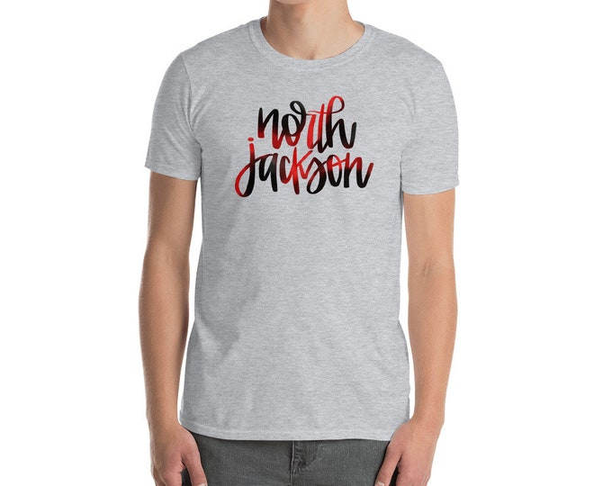 Adult North Jackson Watercolor on Grey Tee