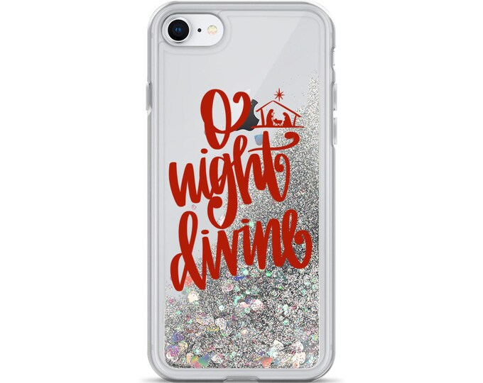 O Night Divine Liquid Glitter Phone Case