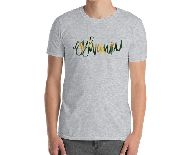 Adult Sylvania Watercolor Grey Tee