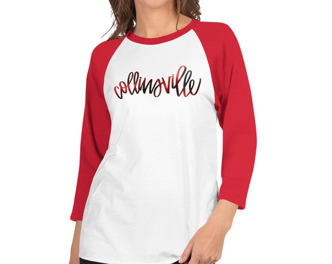 Adult Collinsville Watercolor on Raglan