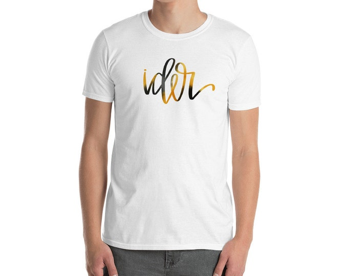 Adult Ider Watercolor White Tee