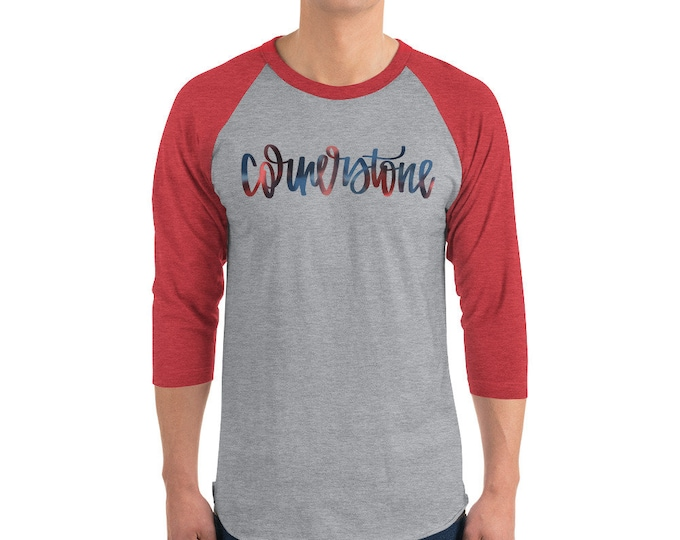 Adult Cornerstone Watercolor Red/Grey Raglan