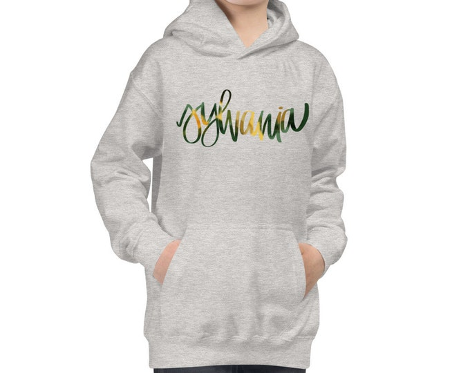 Youth Sylvania Watercolor Grey Hoodie