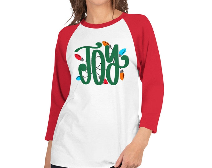 Joy 3/4 sleeve raglan shirt