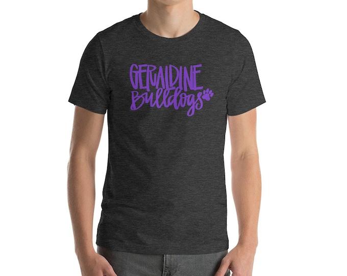 Adult Geraldine Bulldogs on Charcoal Tee