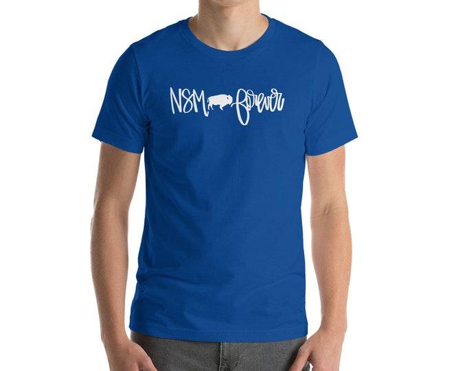 Adult NSM Forever White on Blue Tee