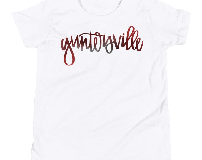 Youth Guntersville Watercolor White Tee