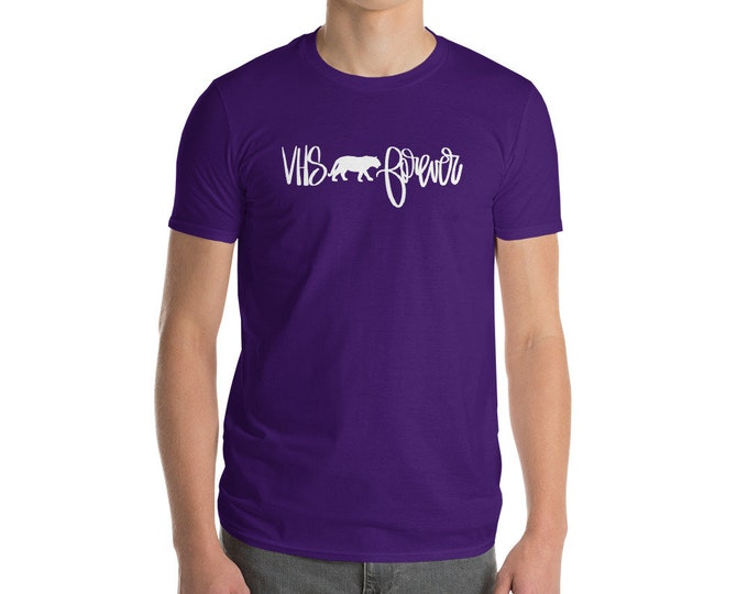 Adult Valley Head Forever White on Purple Tee