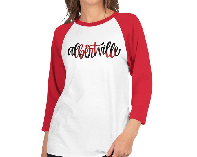 Adult Albertville Watercolor on Raglan