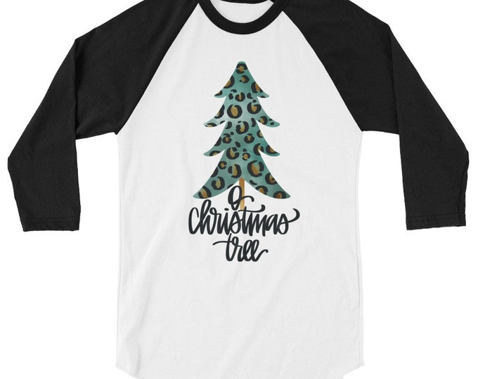 O Christmas Tree 3/4 sleeve raglan