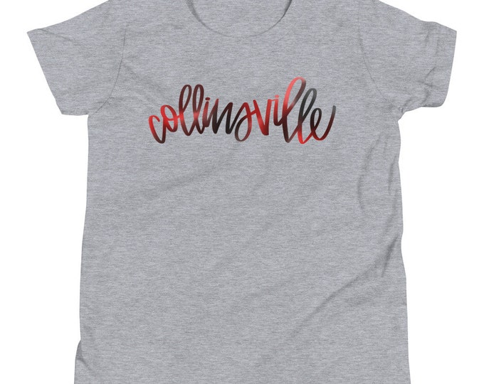 Youth Collinsville Watercolor Grey or White Tee