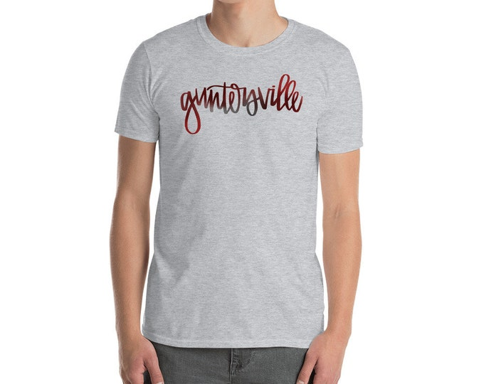 Adult Guntersville Watercolor Grey Tee
