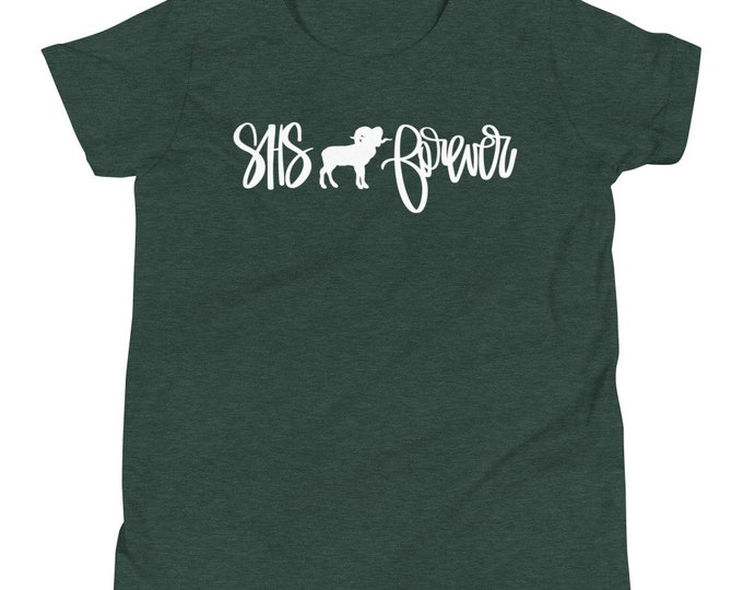 Youth Sylvania Forever White on Green Heather Tee