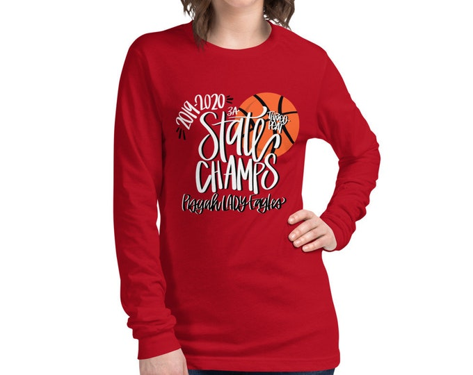 Pisgah State Champs, Red Long Sleeve Tee