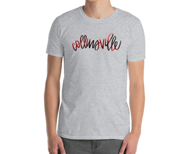 Adult Collinsville Watercolor Grey Tee