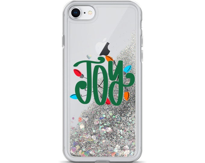 Joy Liquid Glitter Phone Case