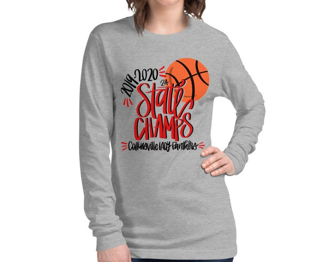 Collinsville Champs, Grey Long Sleeve Tee