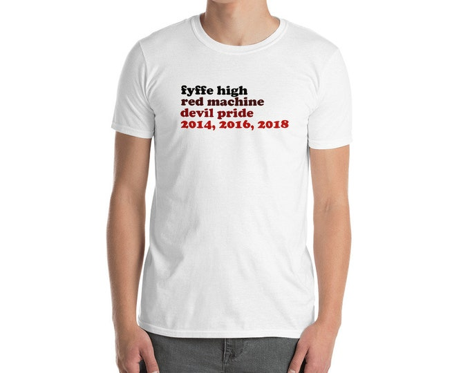 Adult Fyffe School Spirit Ombre on White Tee