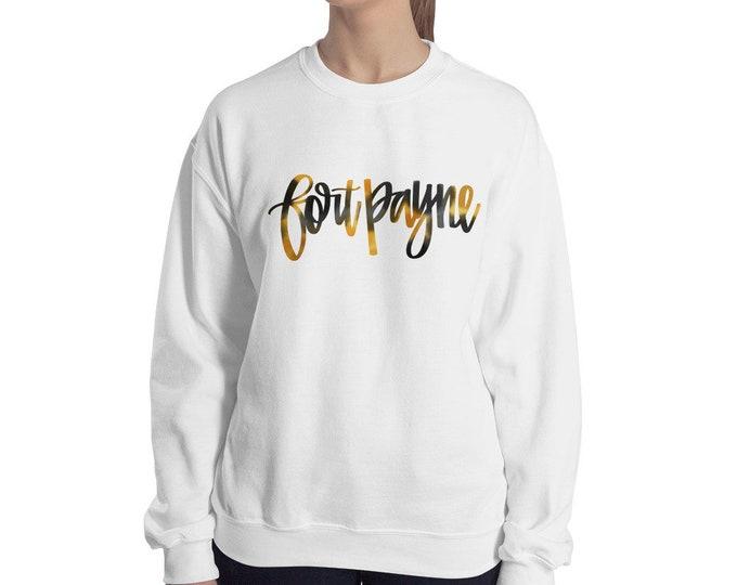 Adult Fort Payne Watercolor on White or Grey Sweatshirt