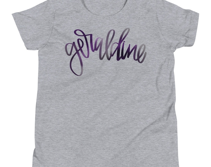 Youth Geraldine Watercolor Grey or White Tee