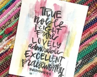 Philippians 4:8 Print