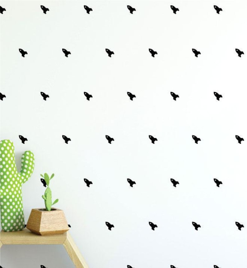 Kids Room Patterns Girls Room Pattern Wall Sticker Decal Collection Of 49 Rocket Pattern Black Wall Decals Boys Room Nursery Decal