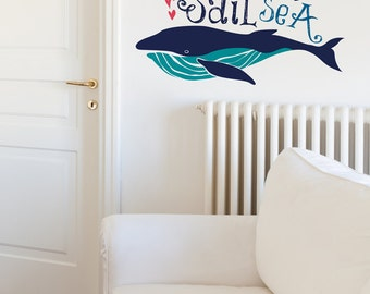 Sail The Sea With Big Whale Billy Removable Wall Sticker