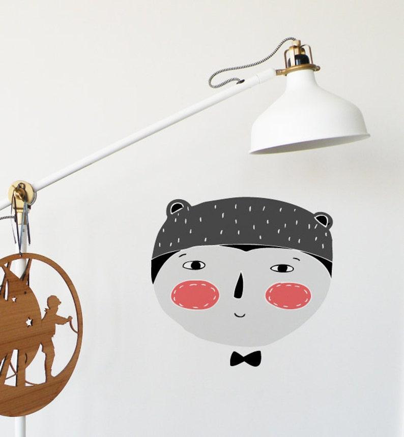 Amigo Bear Wall Sticker Decal Boy Nursery Wall Stickers Animal Wall Decals Home Decor Wall Art Baby Room Girl