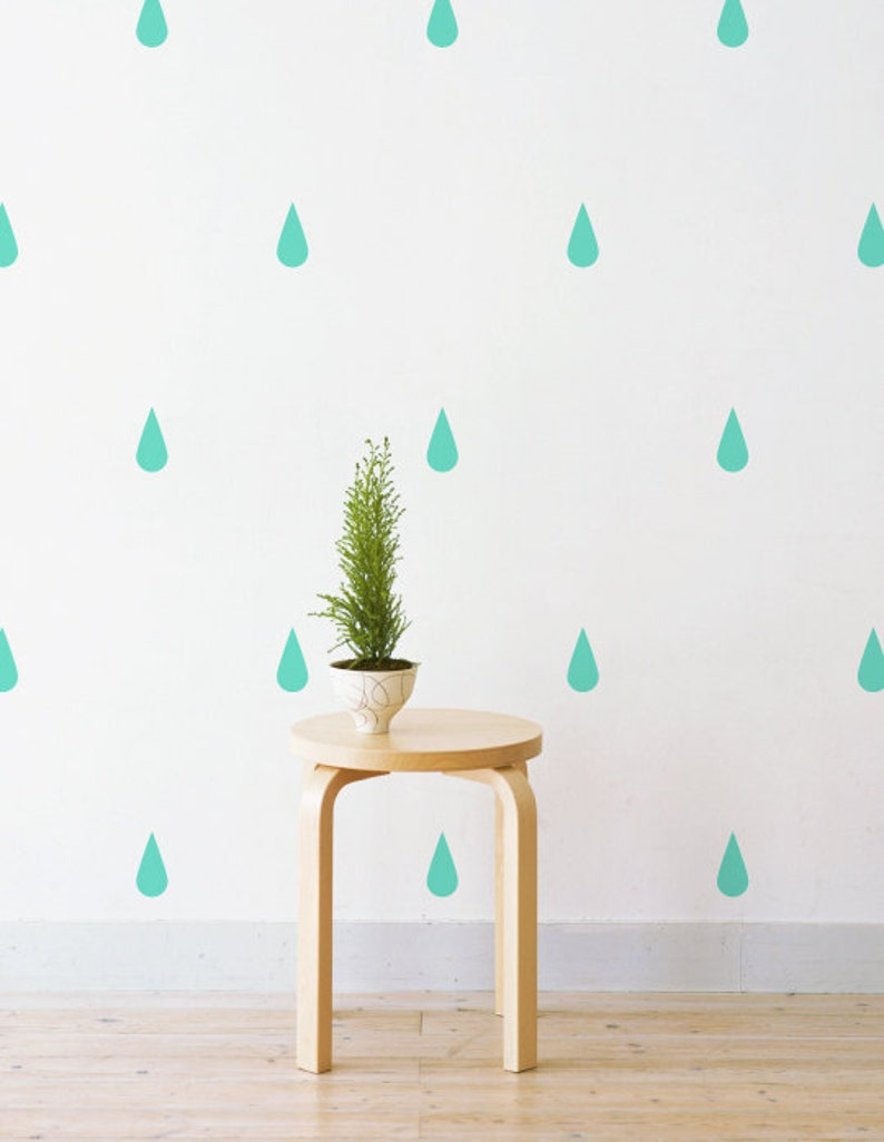 Wall Art Wall Decals Raindrops Kids Room Patterns Girls Room Nursery Decal Boys Room Set Of 64 Wall Sticker Decal Pattern
