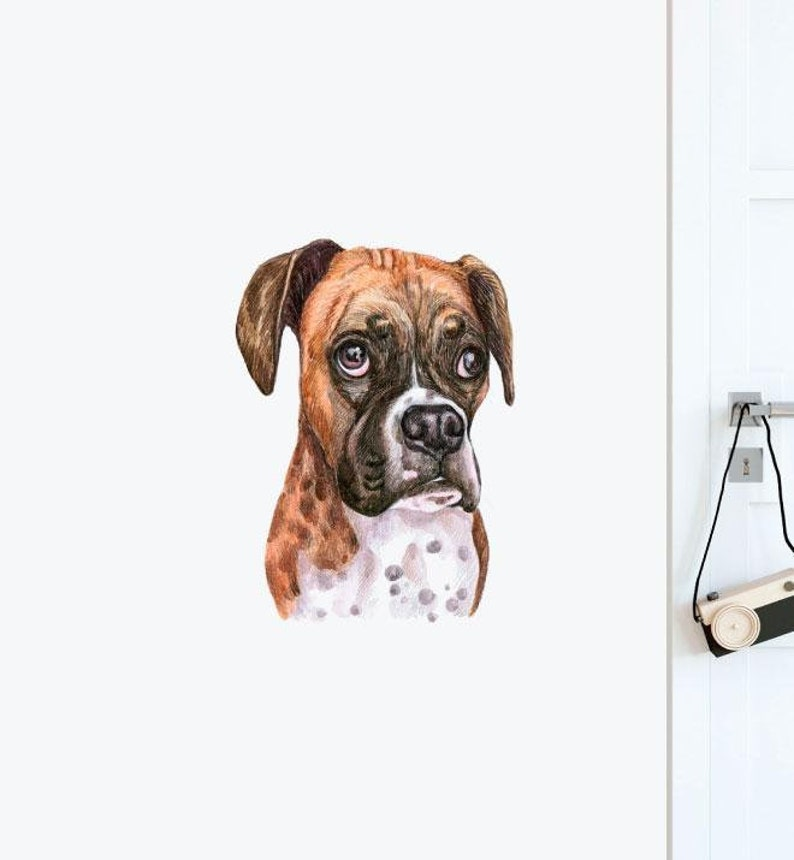 Kids Stickers Dogs and Pets Wall Stickers Wall Art Boxer Dog Wall Sticker Decal Wall Decals Animals Wall Decals